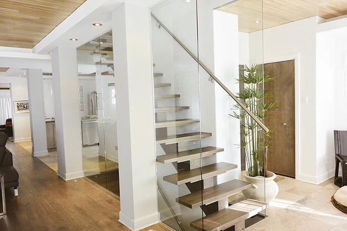 70 escalier bois murdeverre rampe stainless